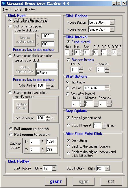 Advanced Mouse Auto Clicker 3.9.6